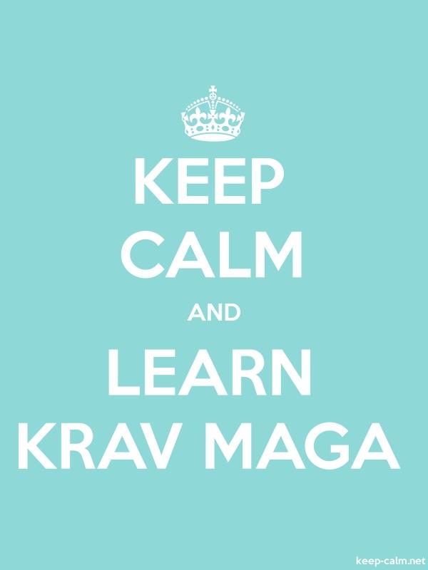 KEEP CALM AND LEARN KRAV MAGA - white/lightblue - Default (600x800)