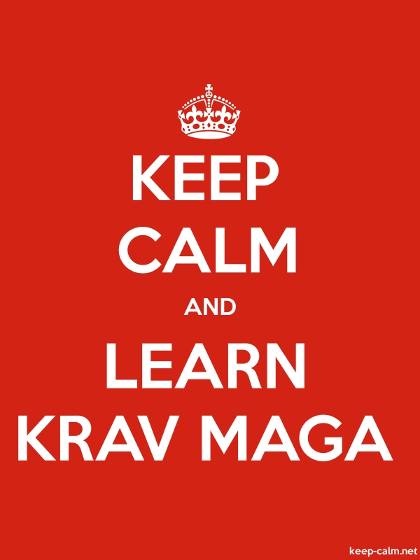 KEEP CALM AND LEARN KRAV MAGA - white/red - Default (600x800)