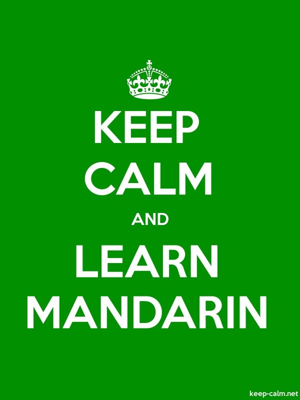 KEEP CALM AND LEARN MANDARIN - white/green - Default (600x800)