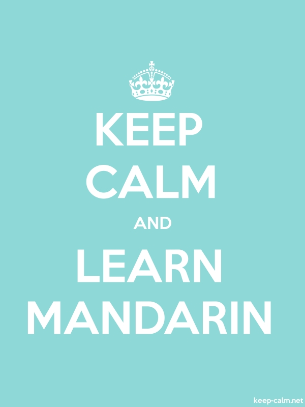 KEEP CALM AND LEARN MANDARIN - white/lightblue - Default (600x800)