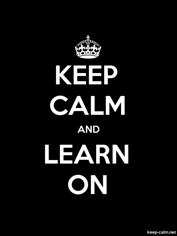 KEEP CALM AND LEARN ON - white/black - Default (600x800)