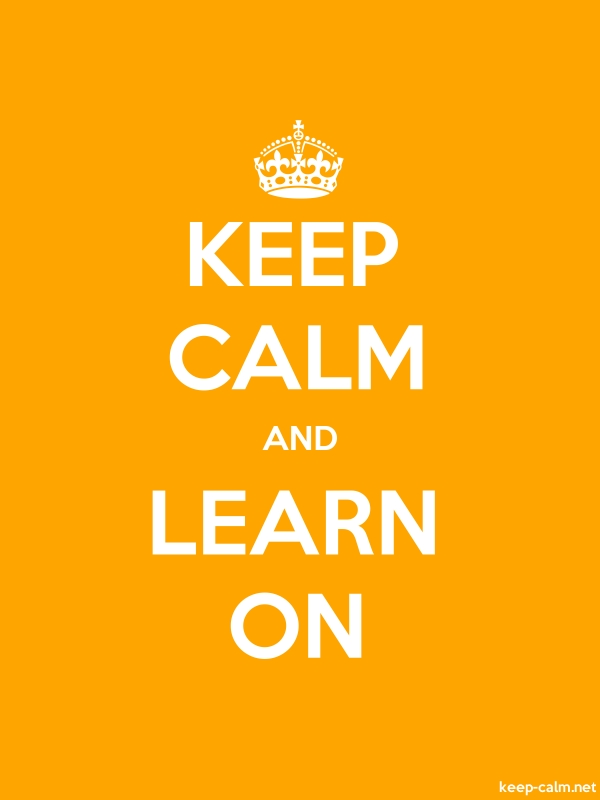 KEEP CALM AND LEARN ON - white/orange - Default (600x800)