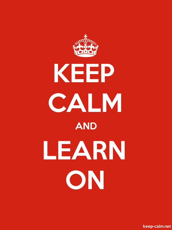 KEEP CALM AND LEARN ON - white/red - Default (600x800)