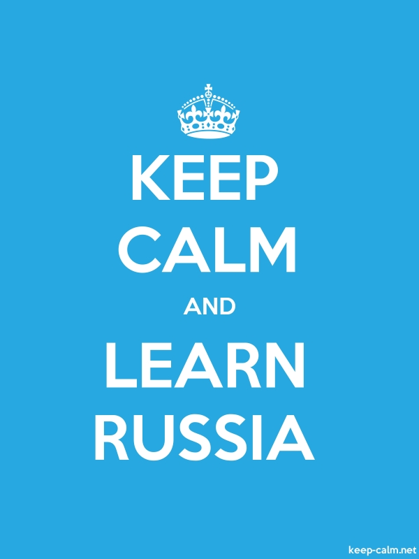 KEEP CALM AND LEARN RUSSIA - white/blue - Default (600x800)