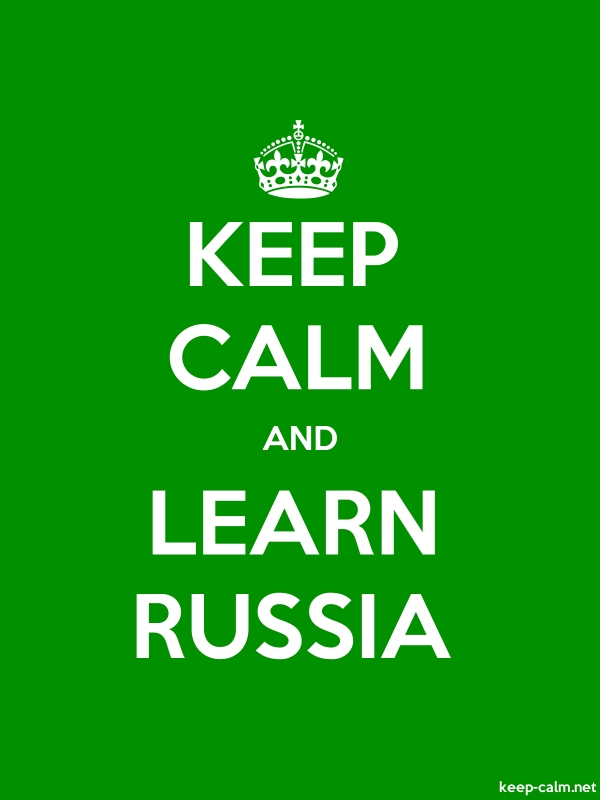 KEEP CALM AND LEARN RUSSIA - white/green - Default (600x800)