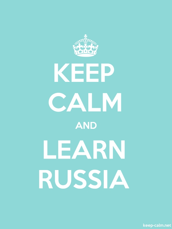 KEEP CALM AND LEARN RUSSIA - white/lightblue - Default (600x800)