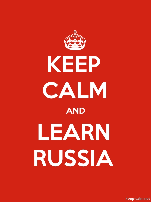 KEEP CALM AND LEARN RUSSIA - white/red - Default (600x800)