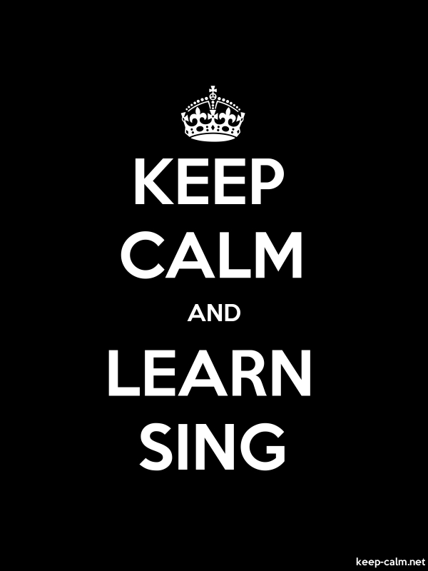 KEEP CALM AND LEARN SING - white/black - Default (600x800)
