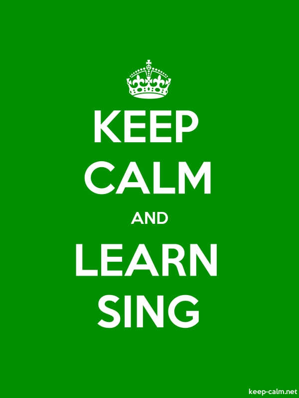 KEEP CALM AND LEARN SING - white/green - Default (600x800)