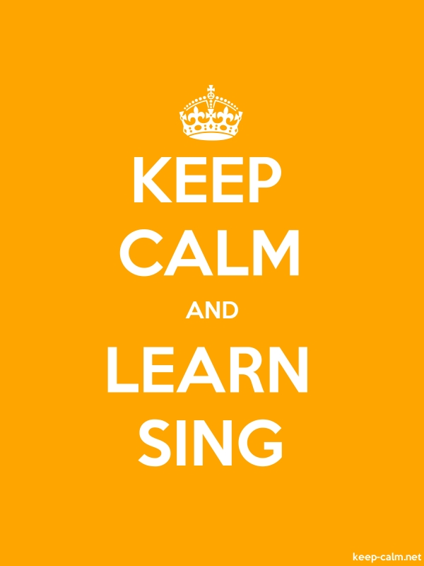 KEEP CALM AND LEARN SING - white/orange - Default (600x800)