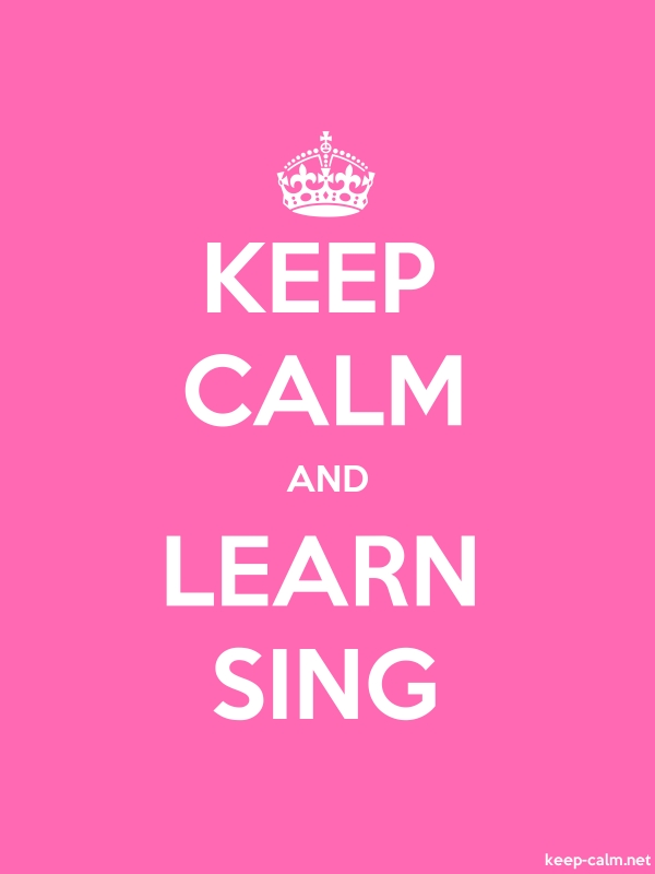 KEEP CALM AND LEARN SING - white/pink - Default (600x800)