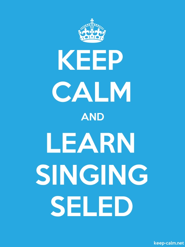 KEEP CALM AND LEARN SINGING SELED - white/blue - Default (600x800)