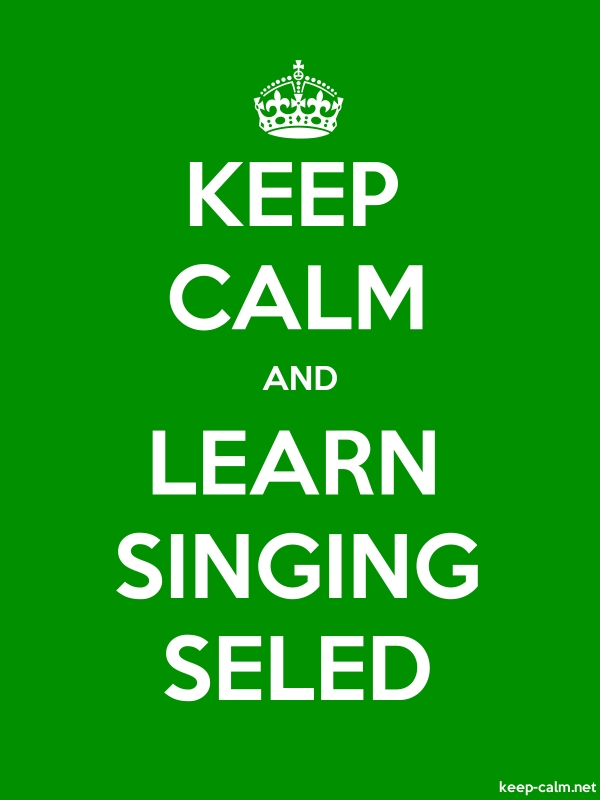 KEEP CALM AND LEARN SINGING SELED - white/green - Default (600x800)