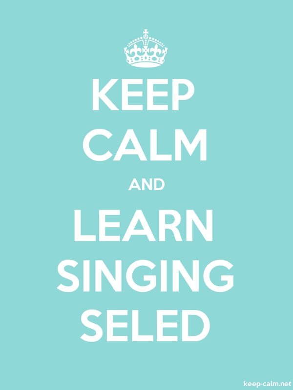 KEEP CALM AND LEARN SINGING SELED - white/lightblue - Default (600x800)