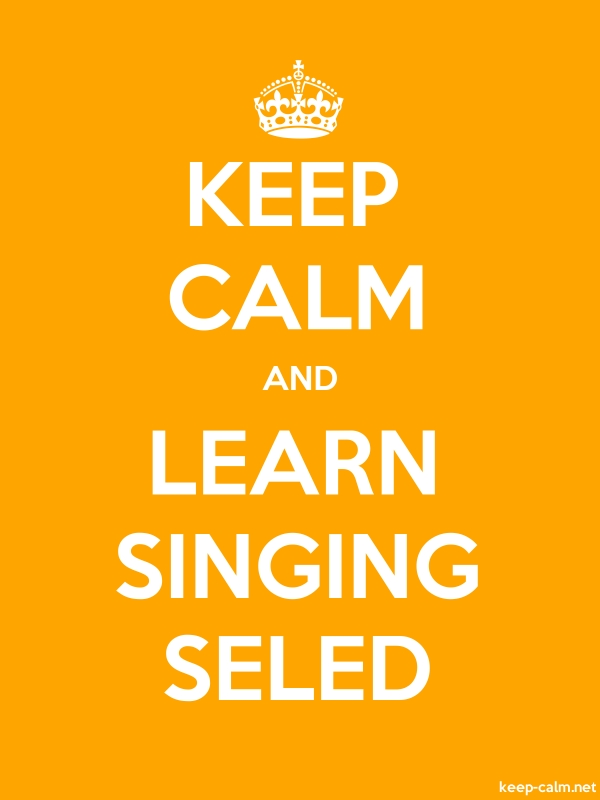 KEEP CALM AND LEARN SINGING SELED - white/orange - Default (600x800)