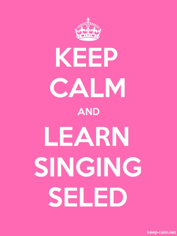 KEEP CALM AND LEARN SINGING SELED - white/pink - Default (600x800)
