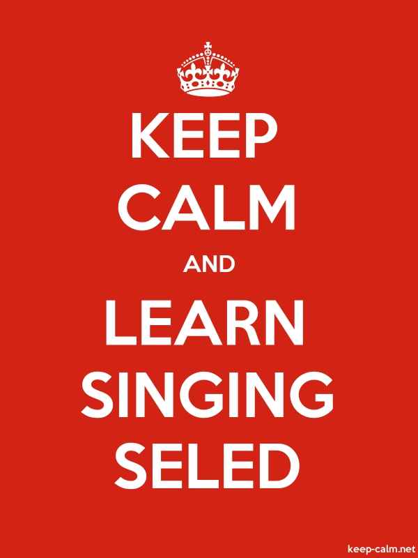 KEEP CALM AND LEARN SINGING SELED - white/red - Default (600x800)
