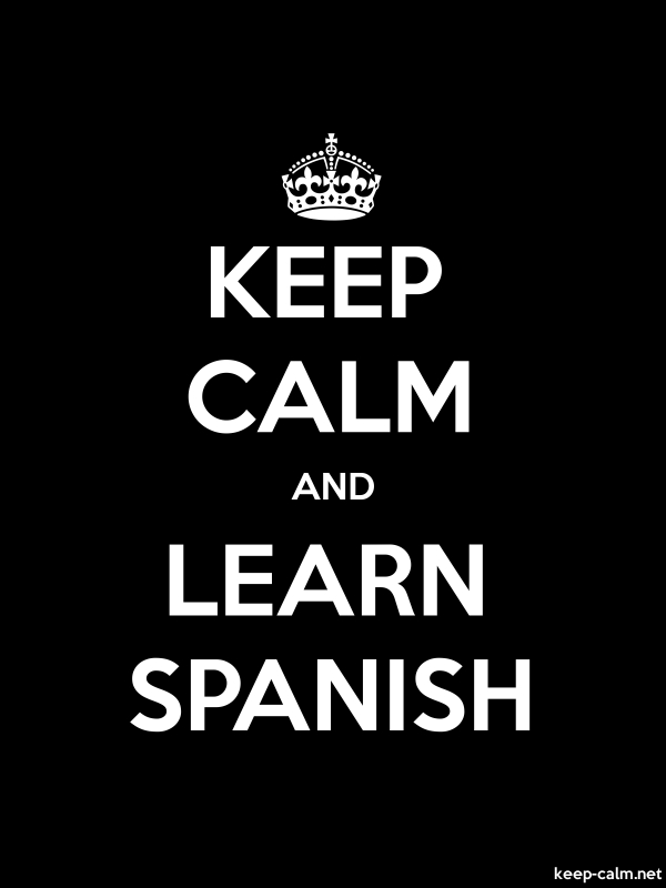 KEEP CALM AND LEARN SPANISH - white/black - Default (600x800)