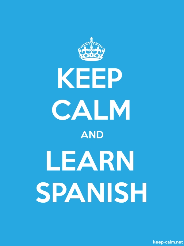 KEEP CALM AND LEARN SPANISH - white/blue - Default (600x800)