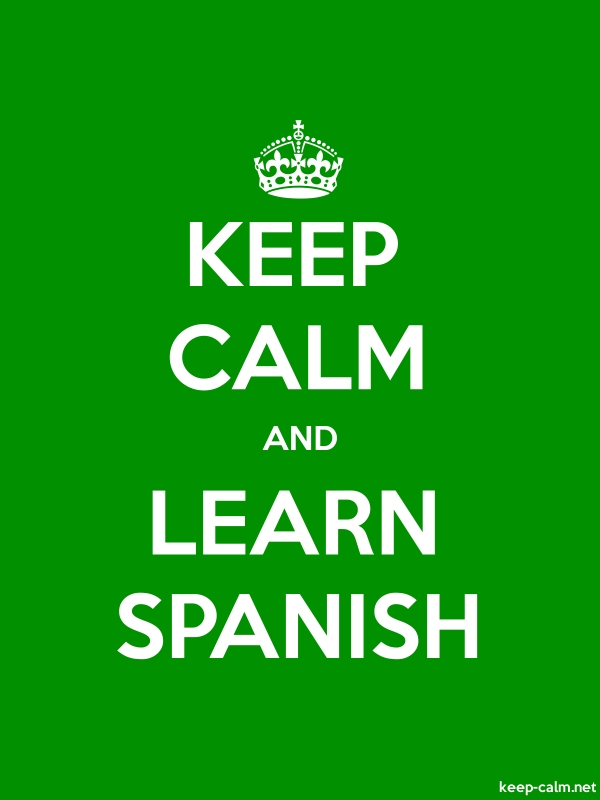 KEEP CALM AND LEARN SPANISH - white/green - Default (600x800)