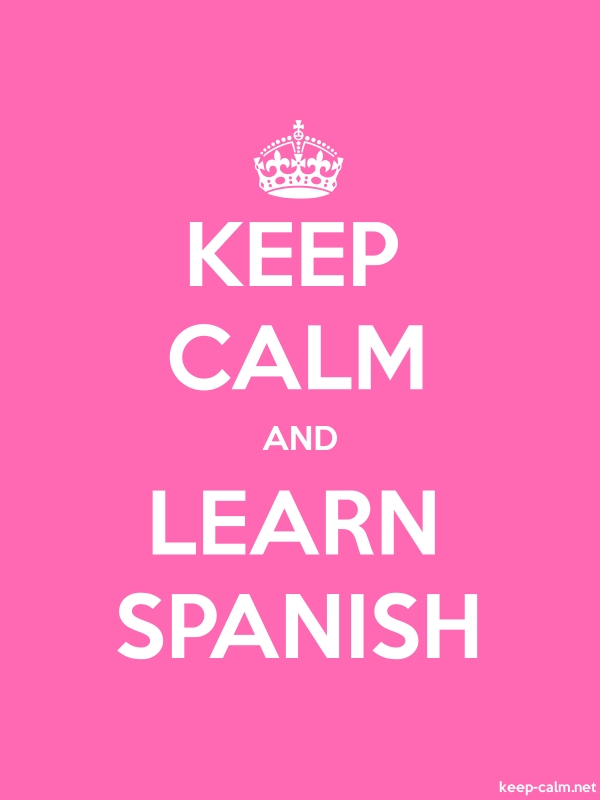KEEP CALM AND LEARN SPANISH - white/pink - Default (600x800)