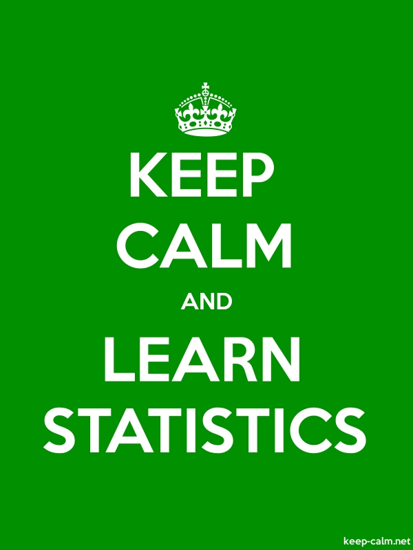 KEEP CALM AND LEARN STATISTICS - white/green - Default (600x800)