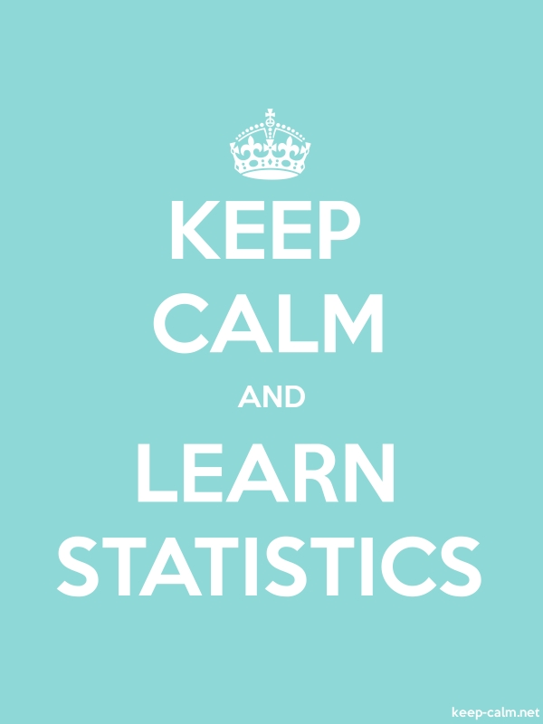 KEEP CALM AND LEARN STATISTICS - white/lightblue - Default (600x800)
