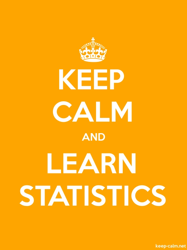 KEEP CALM AND LEARN STATISTICS - white/orange - Default (600x800)