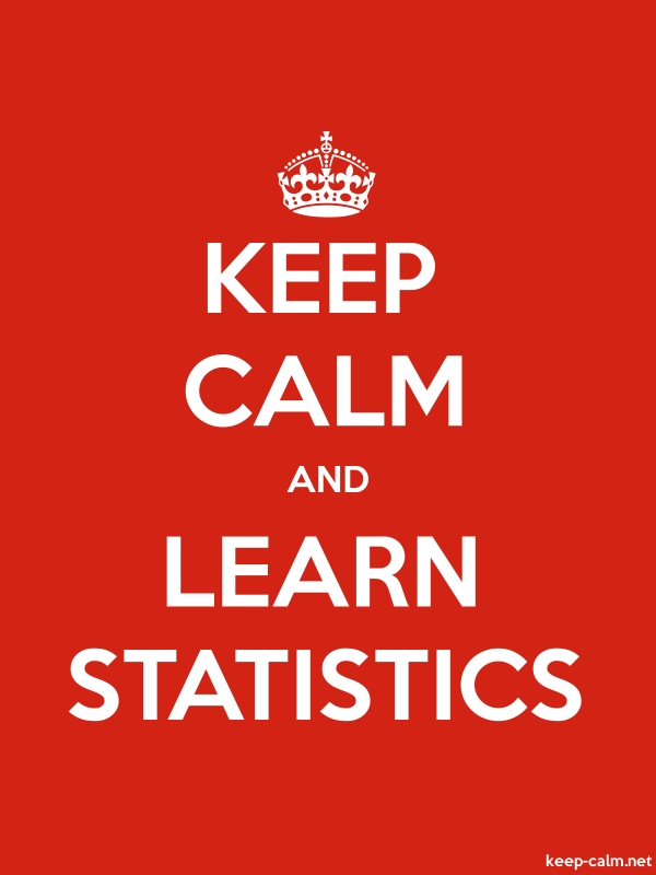 KEEP CALM AND LEARN STATISTICS - white/red - Default (600x800)