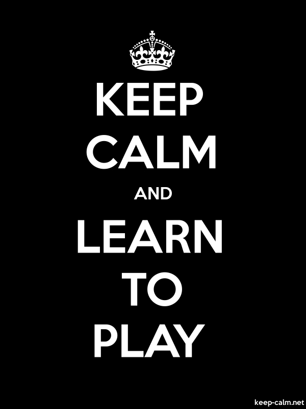 KEEP CALM AND LEARN TO PLAY - white/black - Default (600x800)