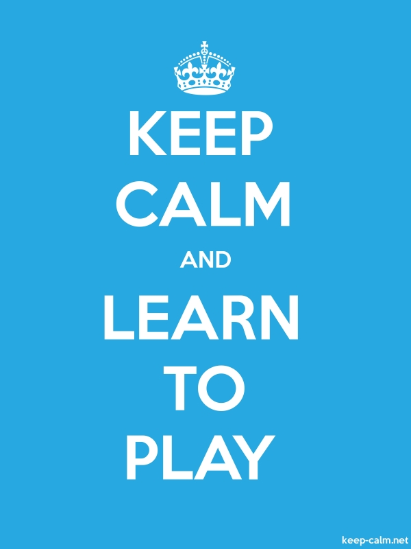 KEEP CALM AND LEARN TO PLAY - white/blue - Default (600x800)