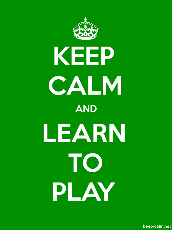 KEEP CALM AND LEARN TO PLAY - white/green - Default (600x800)