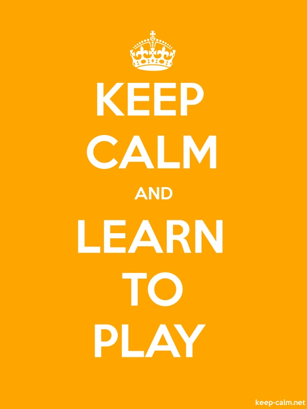 KEEP CALM AND LEARN TO PLAY - white/orange - Default (600x800)
