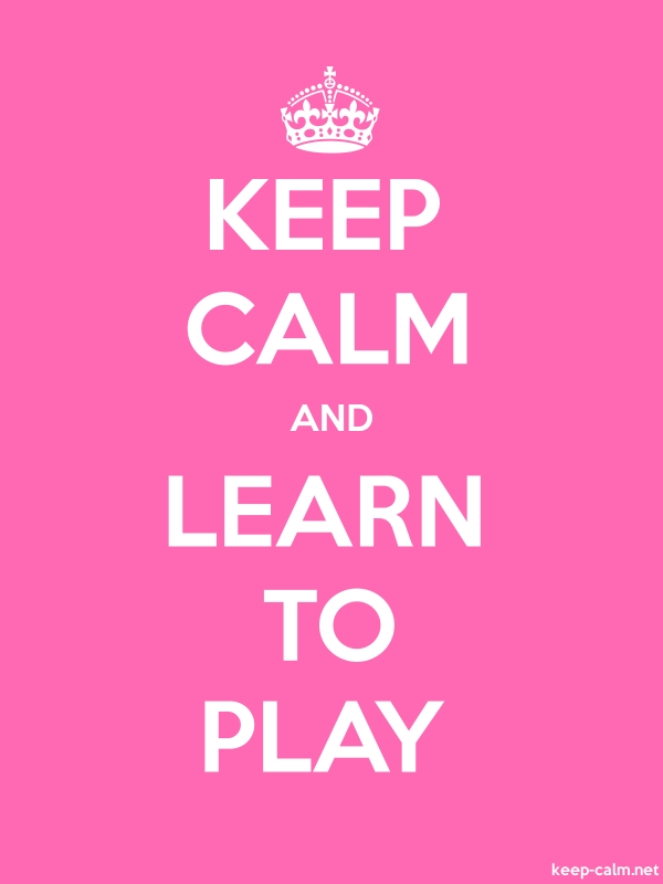 KEEP CALM AND LEARN TO PLAY - white/pink - Default (600x800)