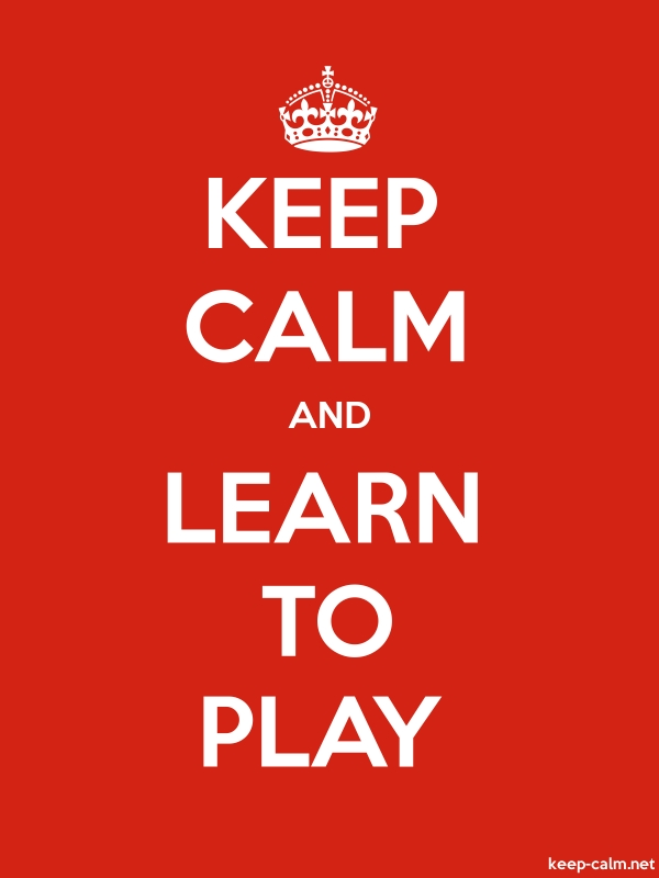 KEEP CALM AND LEARN TO PLAY - white/red - Default (600x800)
