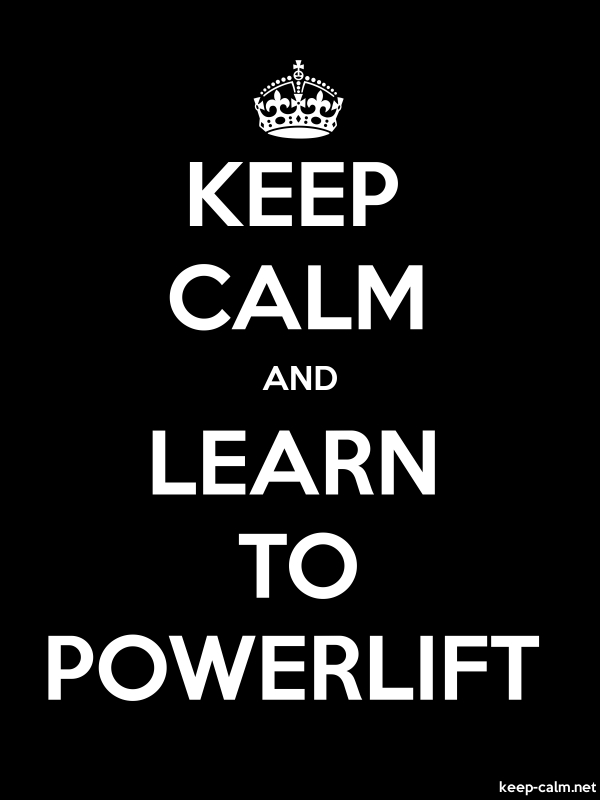 KEEP CALM AND LEARN TO POWERLIFT - white/black - Default (600x800)