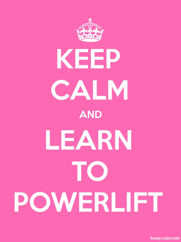 KEEP CALM AND LEARN TO POWERLIFT - white/pink - Default (600x800)