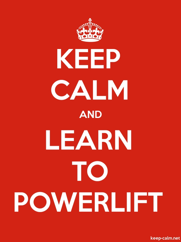 KEEP CALM AND LEARN TO POWERLIFT - white/red - Default (600x800)