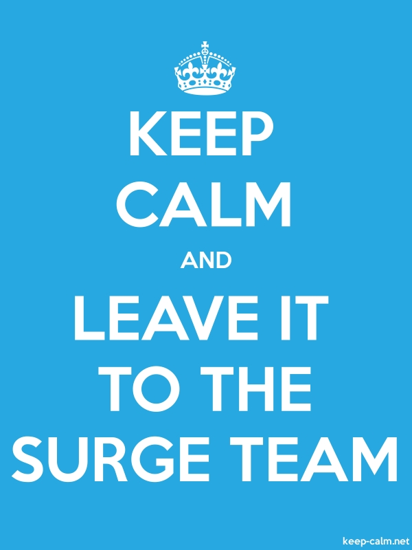 KEEP CALM AND LEAVE IT TO THE SURGE TEAM - white/blue - Default (600x800)