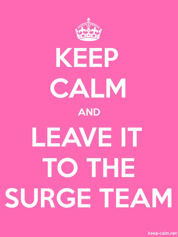 KEEP CALM AND LEAVE IT TO THE SURGE TEAM - white/pink - Default (600x800)