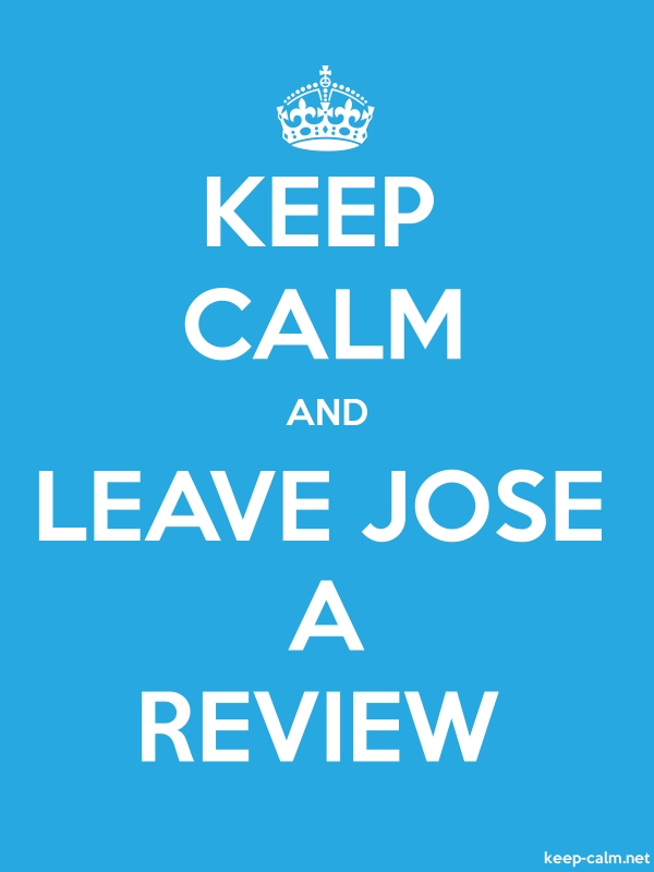KEEP CALM AND LEAVE JOSE A REVIEW - white/blue - Default (600x800)