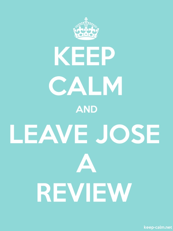 KEEP CALM AND LEAVE JOSE A REVIEW - white/lightblue - Default (600x800)