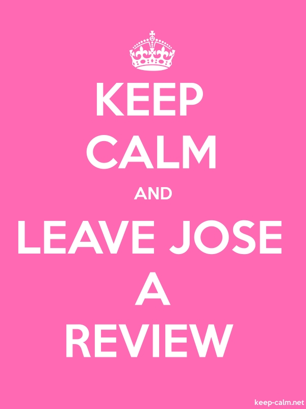KEEP CALM AND LEAVE JOSE A REVIEW - white/pink - Default (600x800)