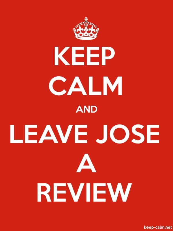KEEP CALM AND LEAVE JOSE A REVIEW - white/red - Default (600x800)