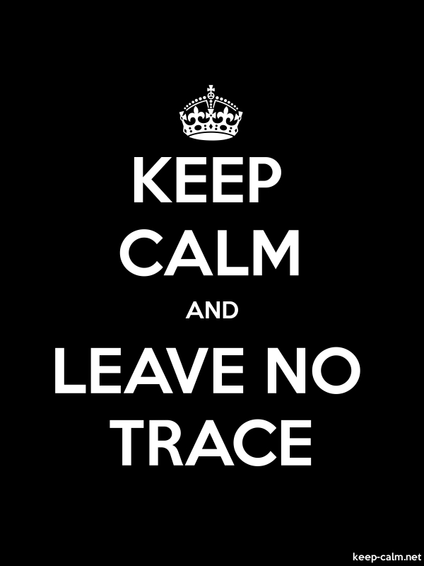 KEEP CALM AND LEAVE NO TRACE - white/black - Default (600x800)