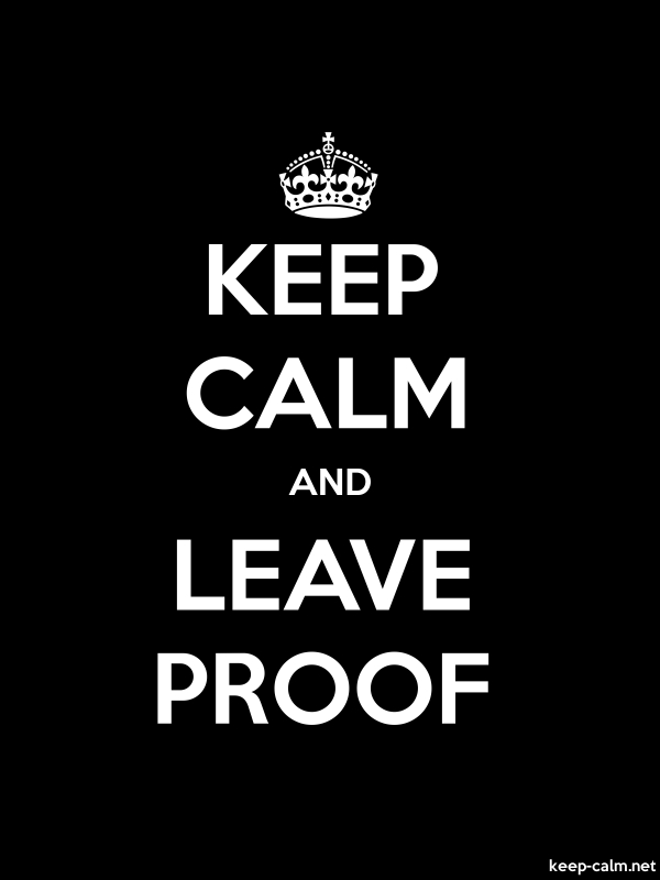 KEEP CALM AND LEAVE PROOF - white/black - Default (600x800)