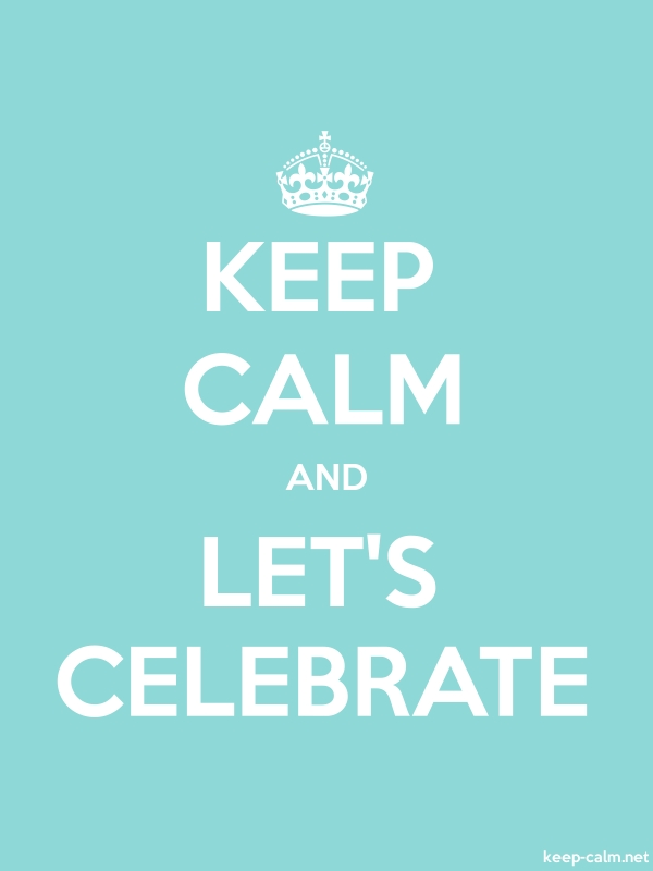 KEEP CALM AND LET'S CELEBRATE - white/lightblue - Default (600x800)