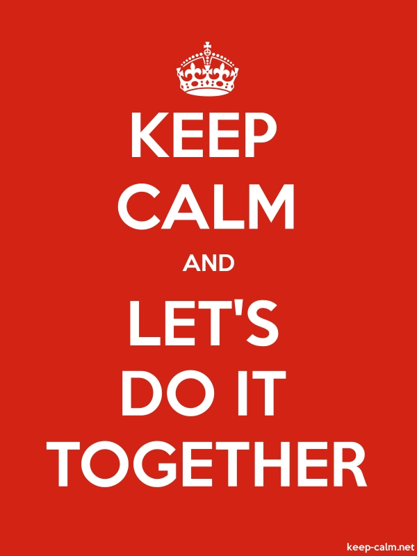 KEEP CALM AND LET'S DO IT TOGETHER - white/red - Default (600x800)