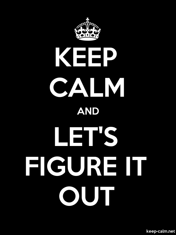 KEEP CALM AND LET'S FIGURE IT OUT - white/black - Default (600x800)