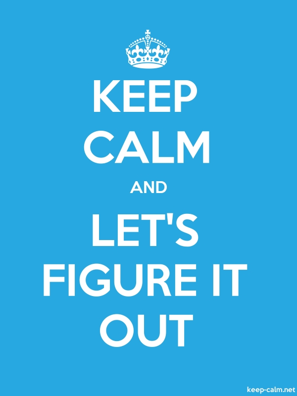 KEEP CALM AND LET'S FIGURE IT OUT - white/blue - Default (600x800)